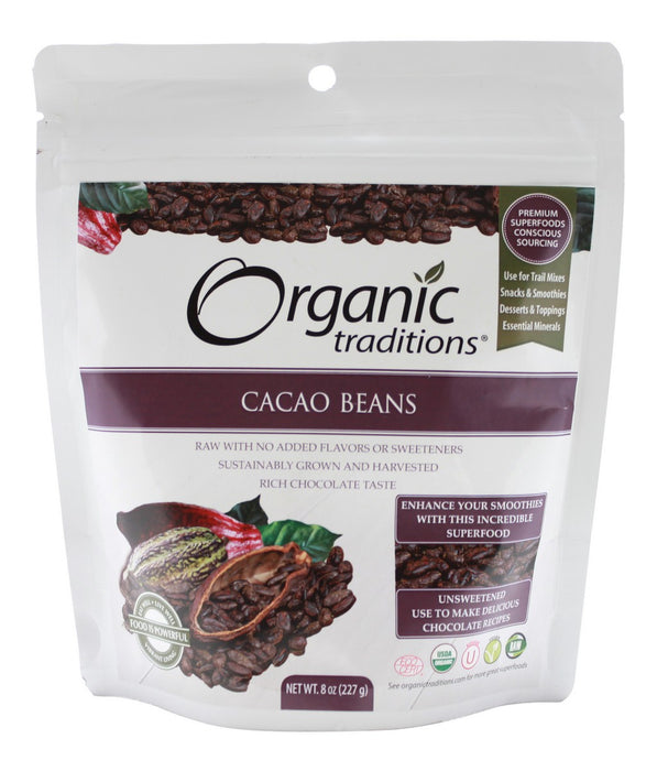 Cacao Beans - 8 oz - Front