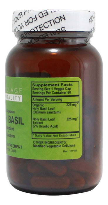 Holy Basil - 60 Capsules - Supplement Facts