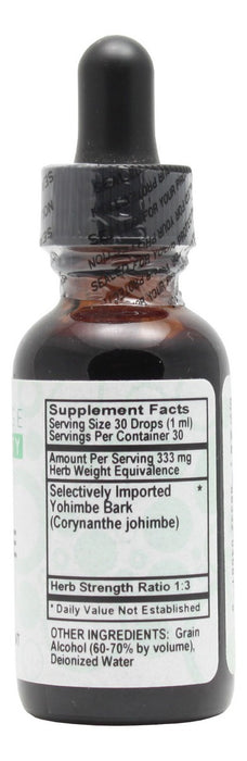 Yohimbe - 1 oz Liquid - Supplement Facts