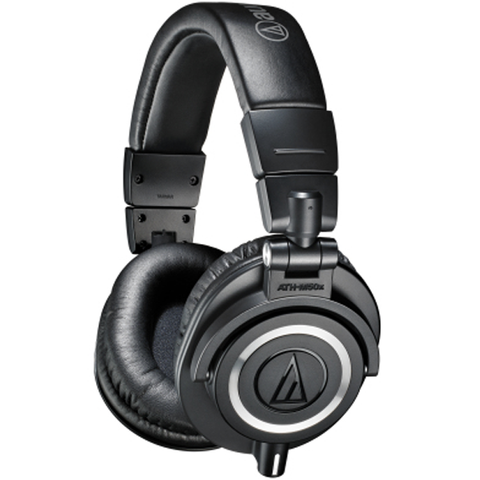 Audio-Technica ATH-M50X Closed Back Professional Monitor Headphones With 3 Cables