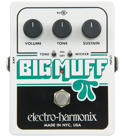 Electro-Harmonix Big Muff Pi with Tone Wicker Distortion Guitar Effects Pedal