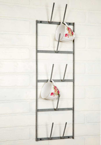 Glory & Grace Rustic Industrial 8 Arm Bottle Dryer Mug Rack