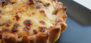 Turkey and Gruyere Quiche