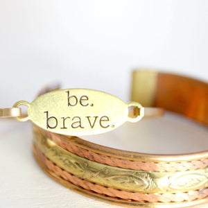 Be Brave Bangle Gold