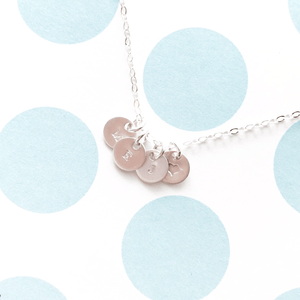 Tiny Coin Initial Necklace