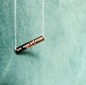 Let Your Soul Shine Bar Necklace | Hand Stamped Necklace