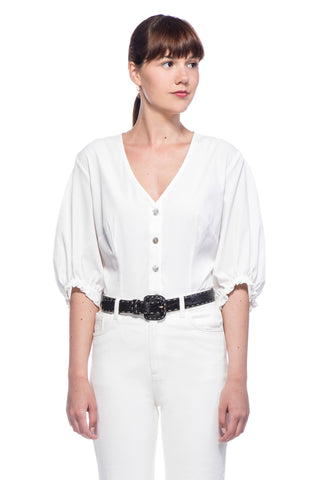 White Anna Blouse