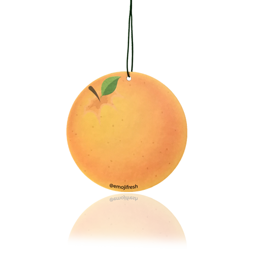 Orange Emoji Air Freshener