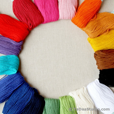 Variety of Solid Sashiko Threads