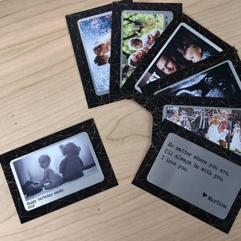 Wallet Insert - Personalised Wallet Metal Photo Card Wedding Keepsake