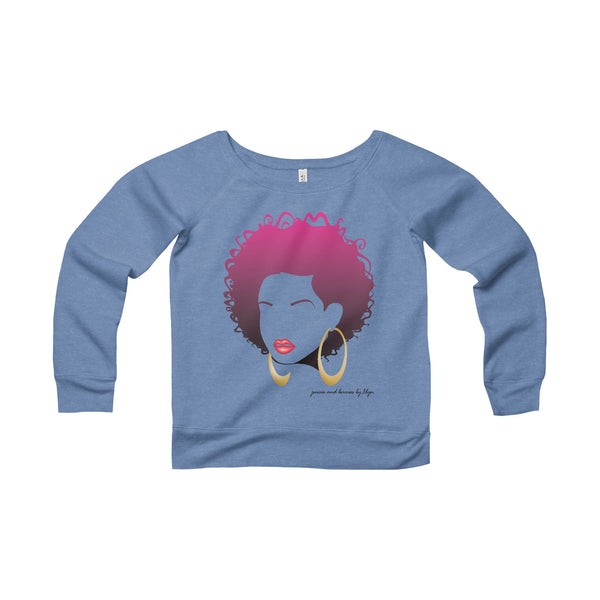 Sweet & Short (Women's Sponge Fleece Wide Neck Sweatshirt)