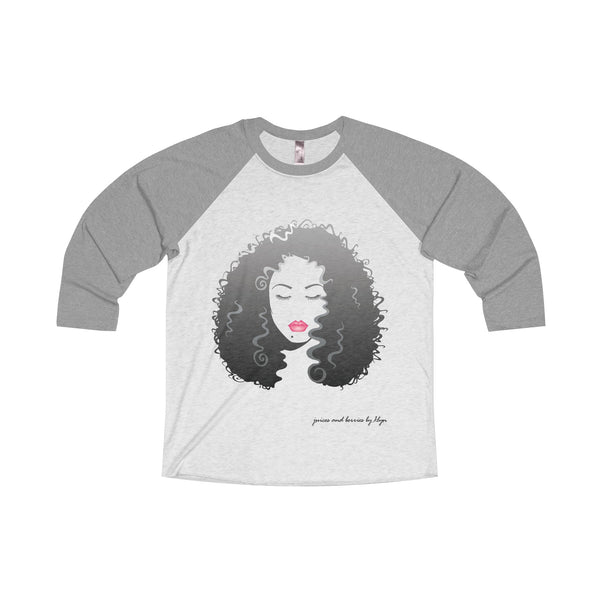 Long Luscious Hair (Tri-Blend Unisex 3/4 Raglan)