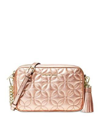 Michael Michael Kors Quilted Floral Camera Bag Crossbody
