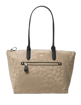 Michael Michael Kors Animal Print Kelsey Top Zip Medium Tote