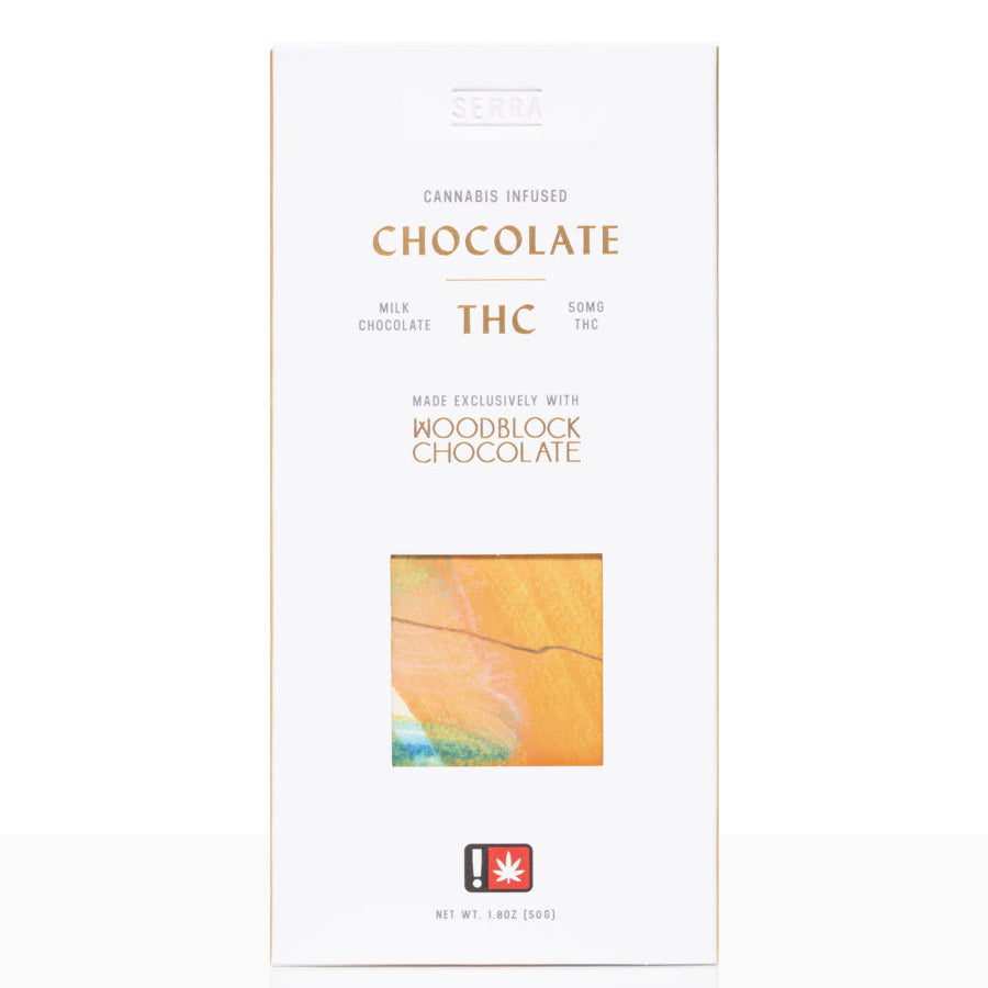 cannabis infused thc woodblock chocolate bar