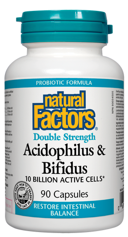 Acidophilus & Bifidus - Double Strength 10 Billion Active Cells 90caps