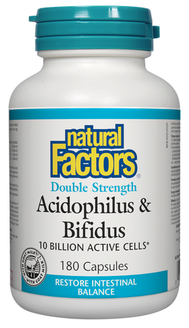 Acidophilus & Bifidus - Double Strength 10 Billion Active Cells 180caps