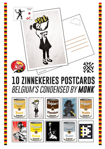 "Cartes postales ""Zinnekeries"" by MONK - 10 postcards set - SUBSCRIPTION OFFER!"