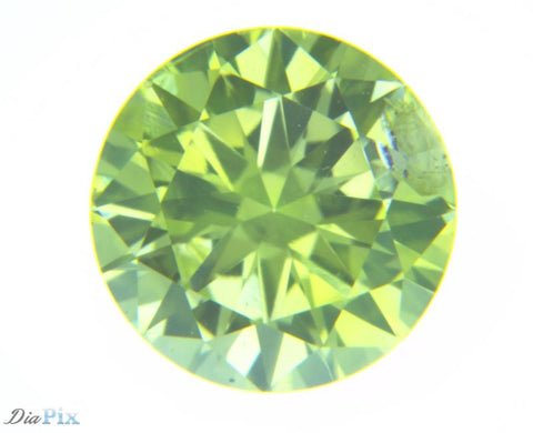 0.47 Ct. Round Brilliant I1 Fancy Vivid Greenish Yellow