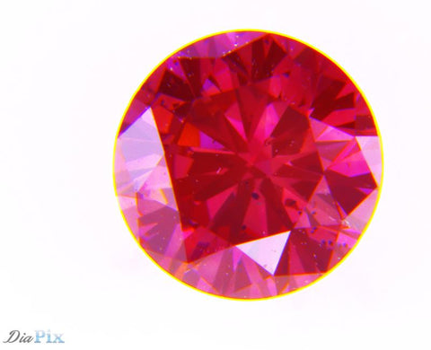 0.32 Ct. Round Brilliant SI1 Fancy Deep Pink
