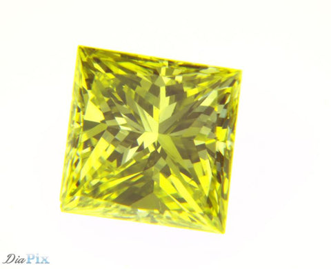 0.46 Ct. Princess VS2 Fancy Intense Yellow