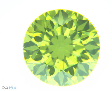 0.35 Ct. Round Brilliant VS1 Fancy Vivid Greenish Yellow