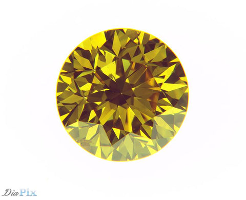 0.25 Ct. Round Brilliant VS1 Fancy Vivid Orangy Yellow
