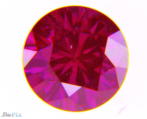 0.44 Ct. Round Brilliant SI2 Fancy Purple Pink