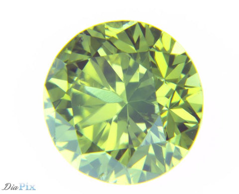 0.45 Ct. Round Brilliant SI1 Fancy Vivid Green Yellow