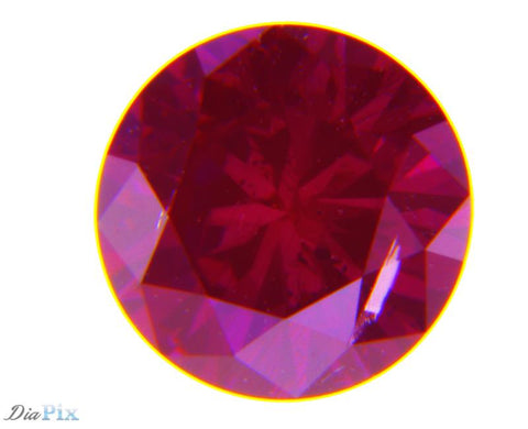 0.44 Ct. Round Brilliant I2 Fancy Deep Purplish Pink