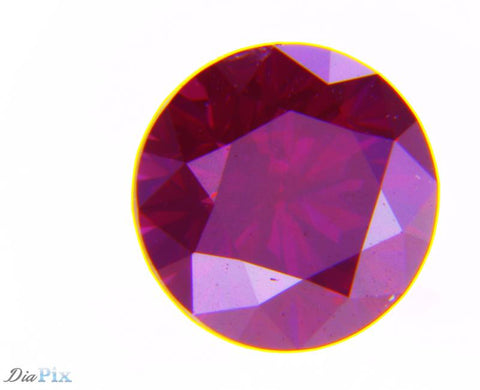 0.42 Ct. Round Brilliant VS2 Fancy Reddish Purple