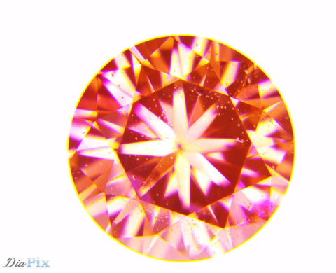 0.22 Ct. Round Brilliant SI1 Fancy Pink