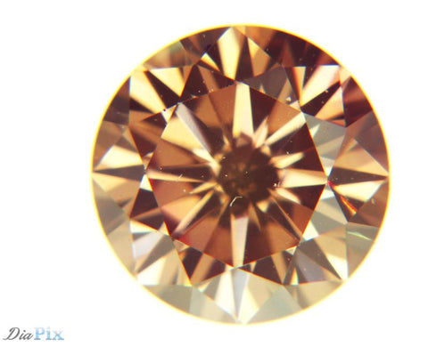 0.47 Ct. Round Brilliant VS2 Fancy Deep Pink Orangy Brown