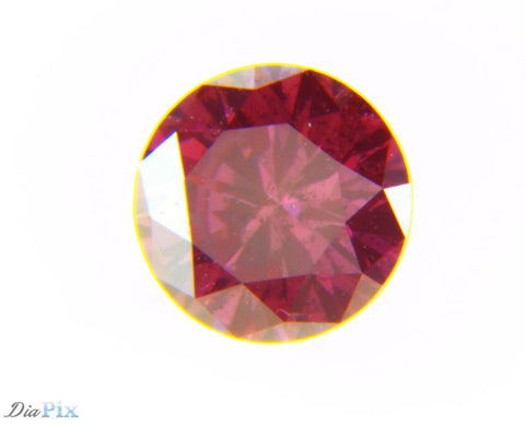 0.34 Ct. Round Brilliant I1 Fancy Deep Purplish Pink