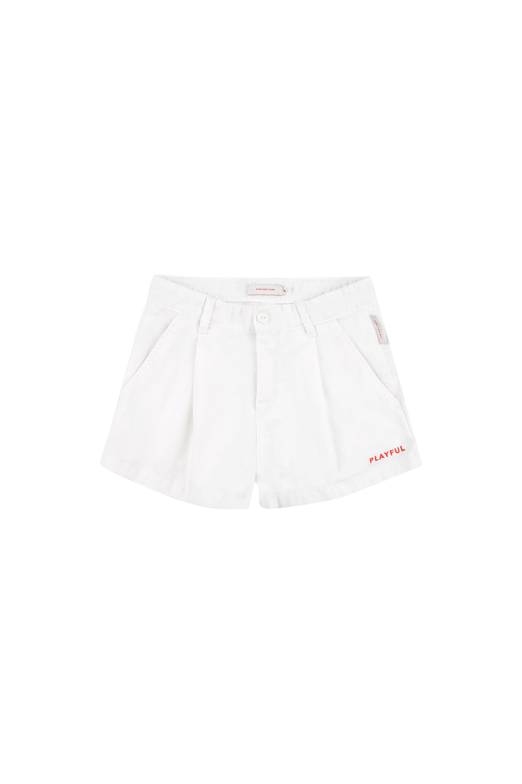 Tiny Cottons Solid Pleat Short - Off White