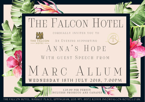 An Evening With Marc Allum for Anna's Hope