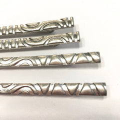 Textured 4 PIECE hair pin bobby pin set SILVER plate
