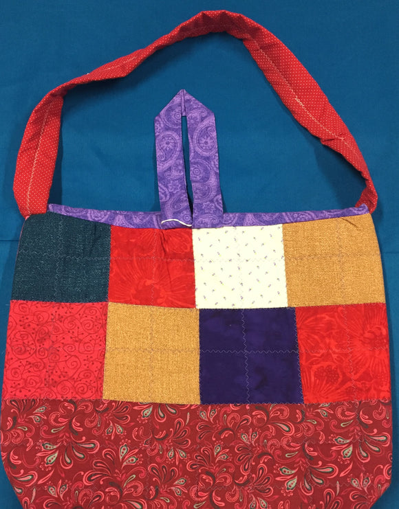 Red Paisley Quilted Purse Totes made by Brenneman's Quilt & Sew
