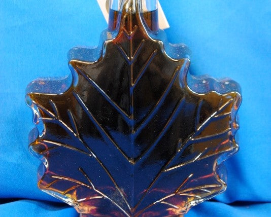 Maple Syrup in Glass - Maple Leaf - Baer Brothers Maple