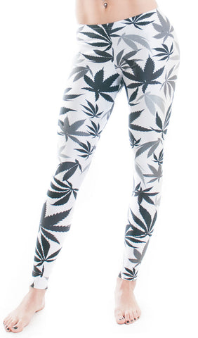 Black & White Weed Print Leggings! - Miss Mary Jane Co.