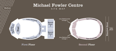 Michael Fowler Centre site map