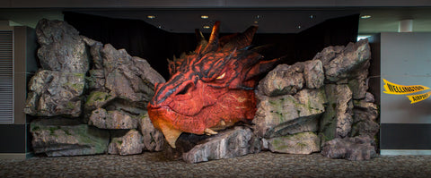 Smaug the Magnificent at Wellington Airport