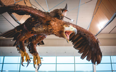 Gandalf atop a Great Eagle at Wellington Airport