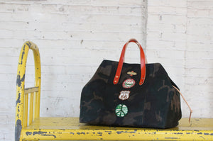 hugh holdall | henry 1o1 | vintage patch bag route 66