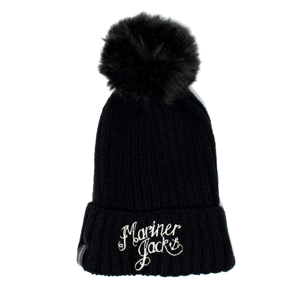 Kids/Teen Mariner Jack Embroidered Bobble Hat - Black