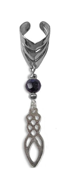 Ear Cuff With Charm Celtic Power - Silver