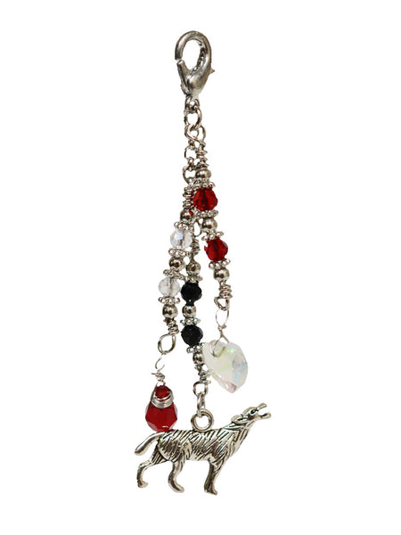 Charm Large Silver - Wolf Love