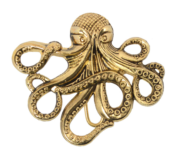 hair hook cthulhu gold steam punk pirate ponytail holder