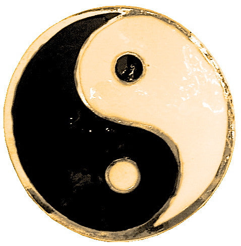 Hair Hook Yin Yang - Gold Ponytail Holder