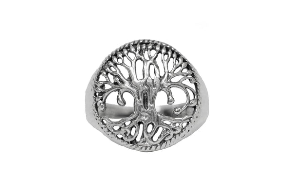 Enchanted Tree of Life Ring - Sterling Silver